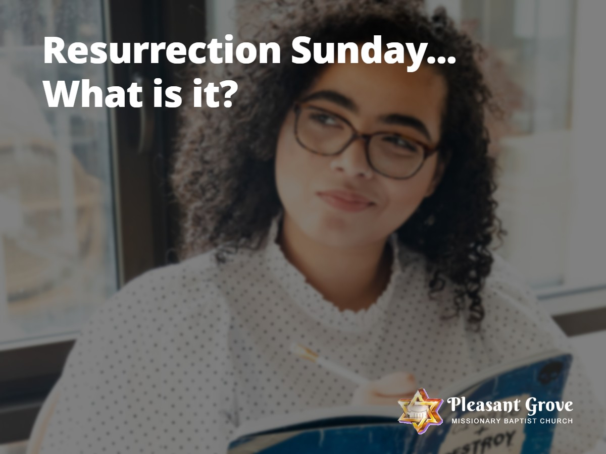 Resurrection Sunday...What is it?